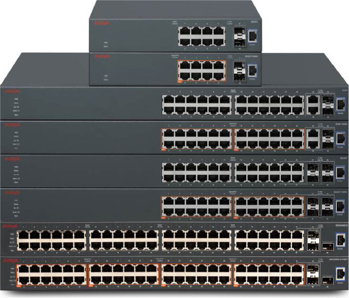 Avaya ERS 3500 switches